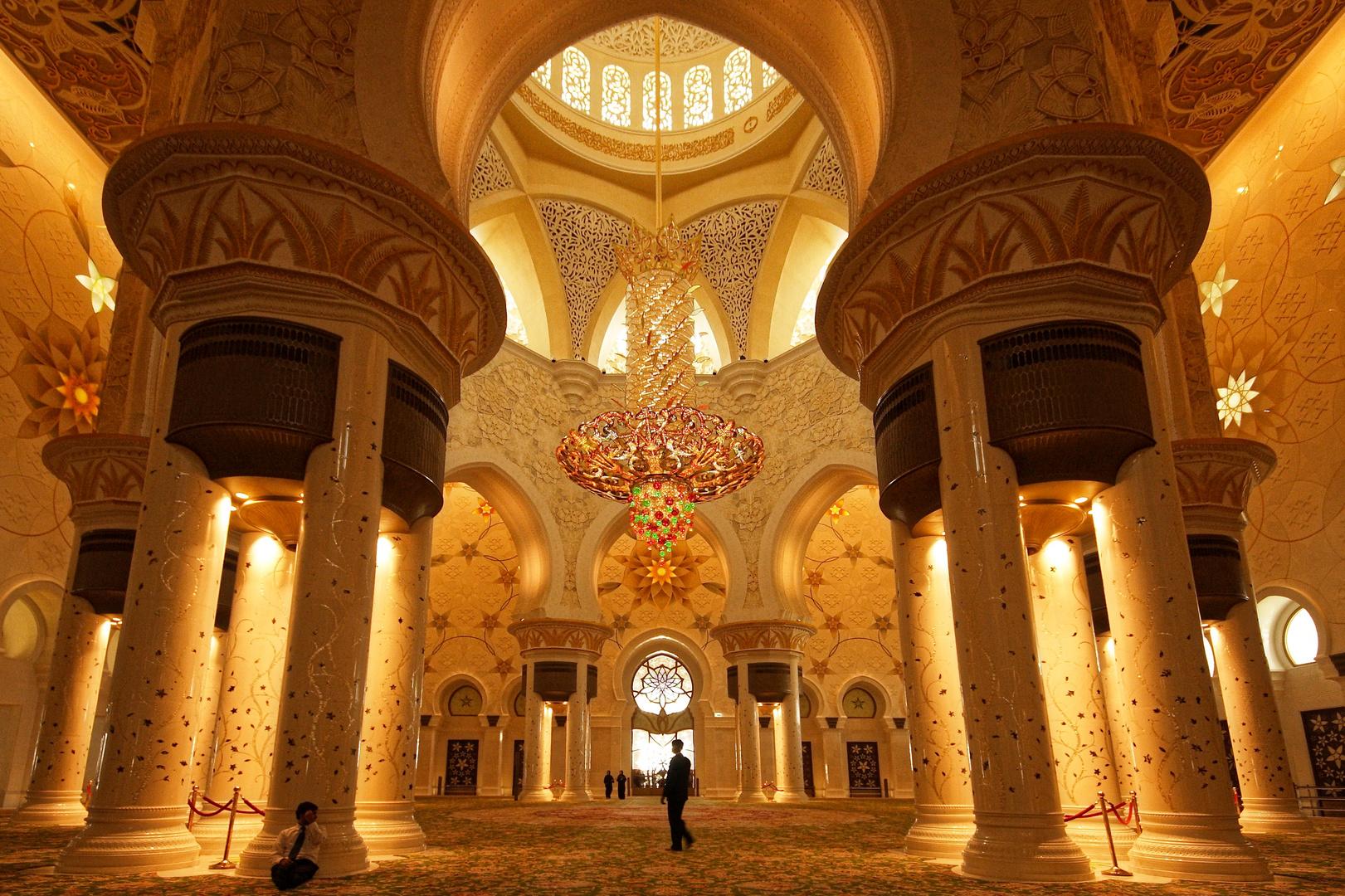 In der Sheikh Fayed Moschee...
