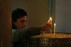 In der St.-Georgs-Kirche in Madaba, Jordanien