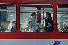 In der Tram scheint es auch sehr fostig zu sein