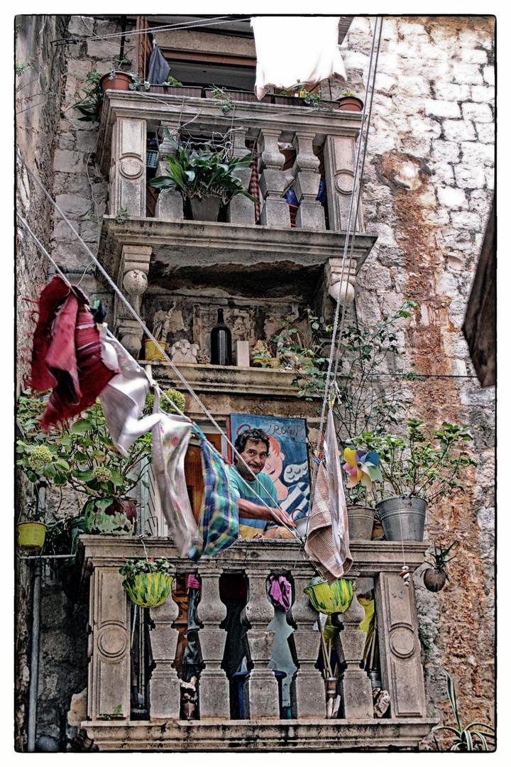 In einer Gasse von Trogir