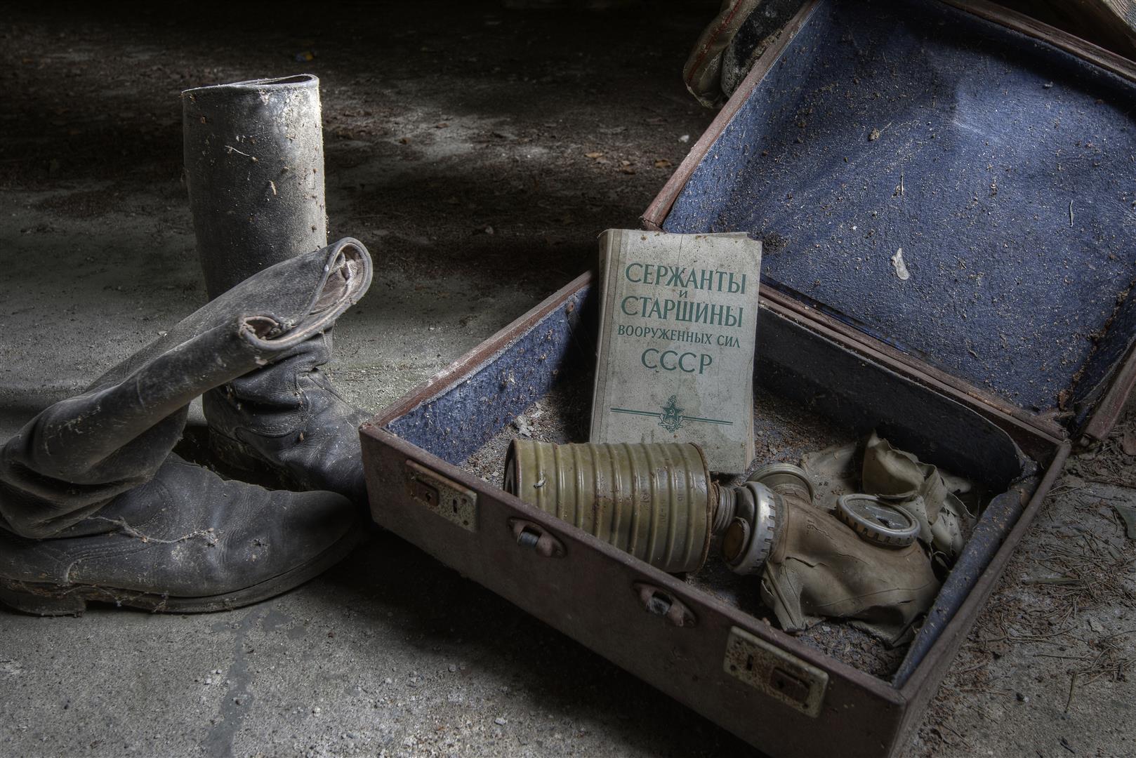 in einer verlassenen sowjetischen Kaserne