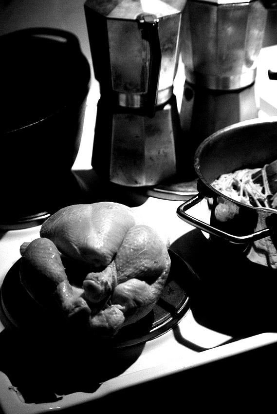 In jedem Huhn liegt ein Anfang und ein Eingang inne