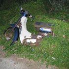 in letzter Zeit fährt er immer weniger mit dem Moped