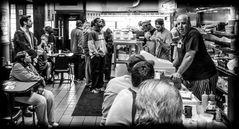 In line at Slyman's Deli 2