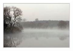 in Nebel getaucht