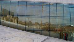 in Oslo über die moderne Architektur gestolpert