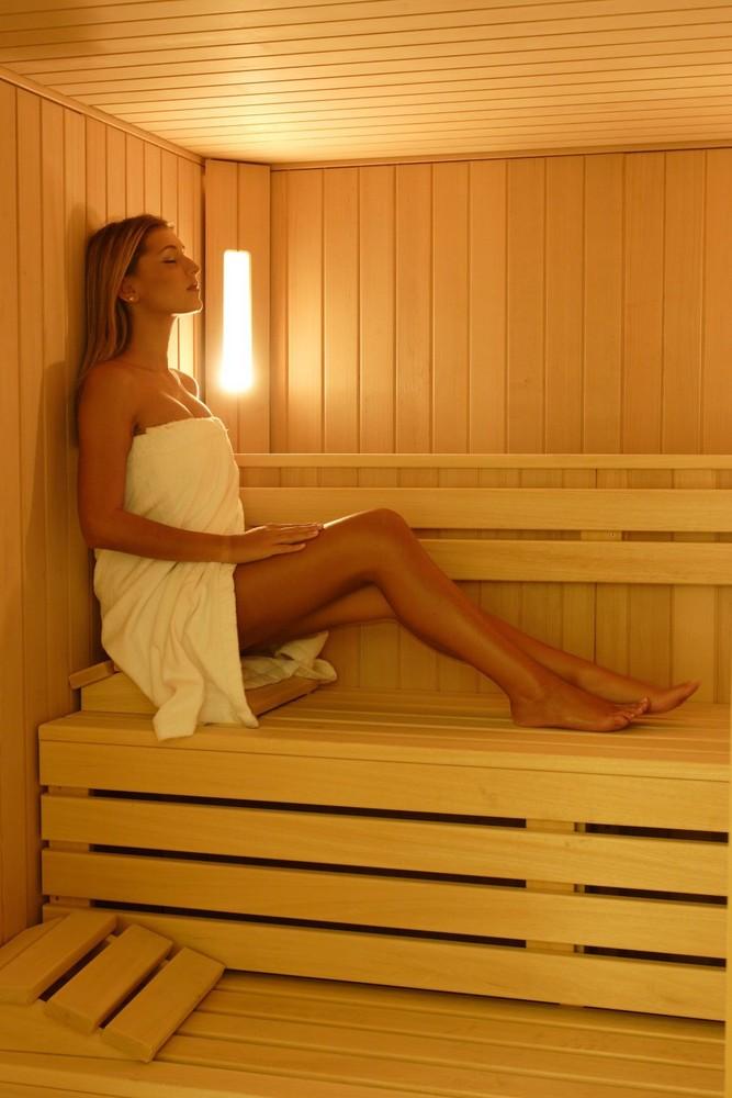 in sauna