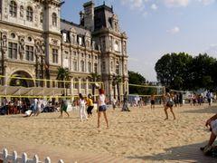 In spiaggia a Parigi.