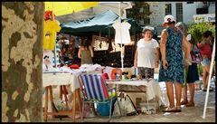 In street market .