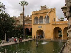 In the city park of Seville (Spain / Andalucia)