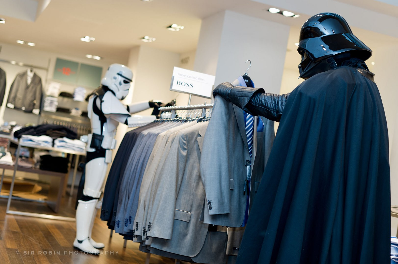 in the Death Star boutique - Vader needs a new suit