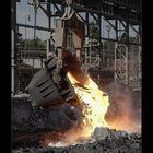 In the dumping slag