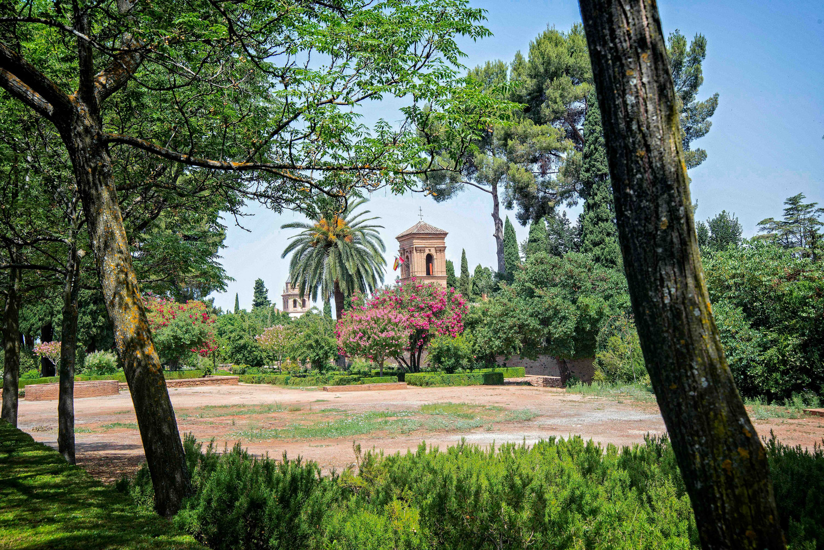 In the gardens of Alhambra