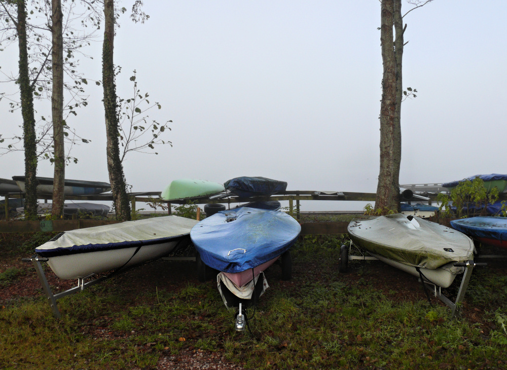 In the misty conditions