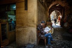 In the narrow streets of islamic cairo