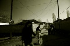 in the streets of Kosovo
