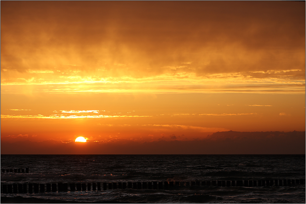 In Zingst geht die Sonne unter...