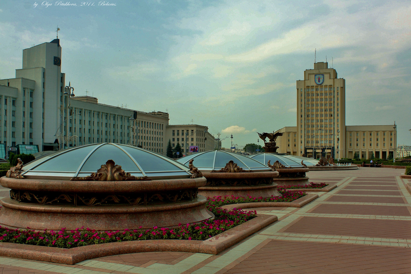 Independence Square in the centre of Minsk.