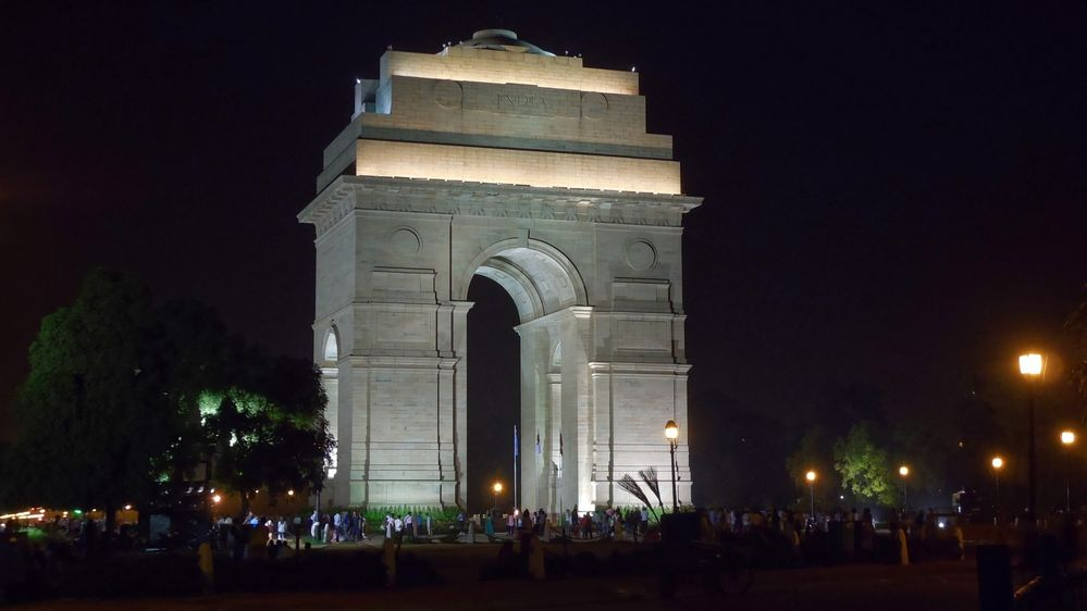 India Gate by night
