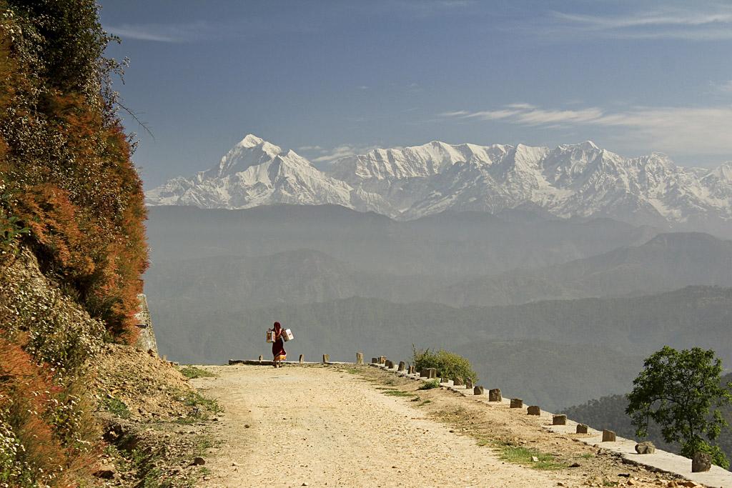 ... Indian Himalayas near Kausani ...