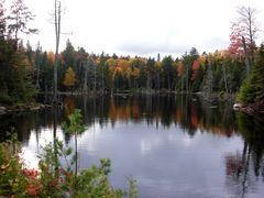Indiansummer an einem See bei Ottawa
