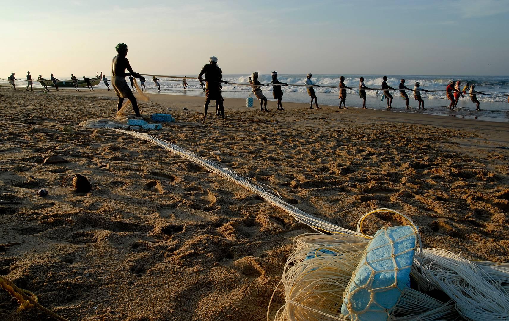 Indien - Netze werden eingeholt