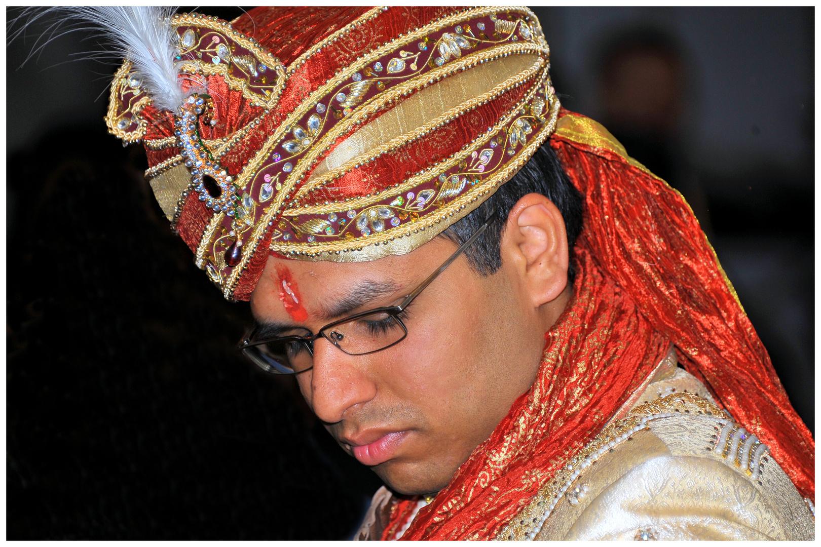 Indien - Portrait eines  Bräutigams