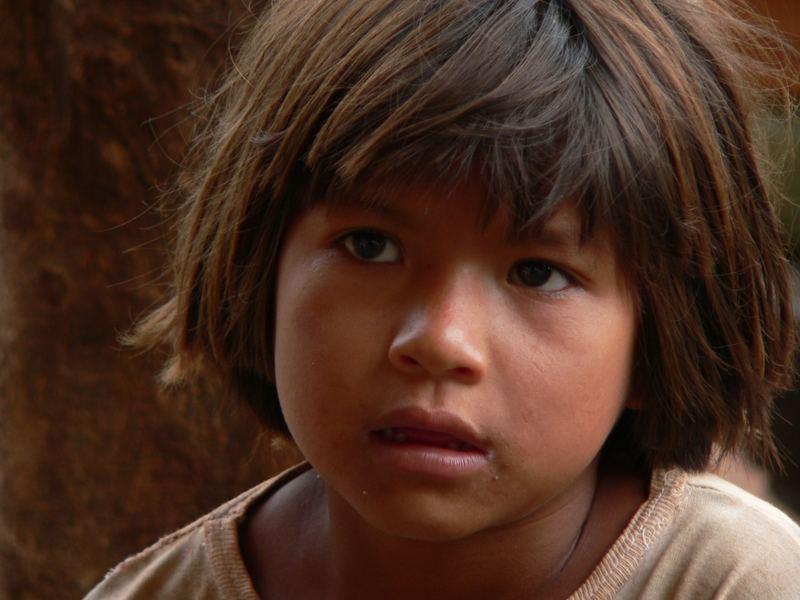 Indio Mädchen in Puerto Iguazu
