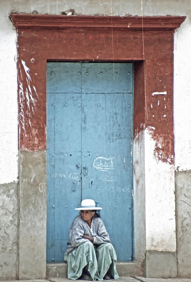 Indiofrau in Bolivien