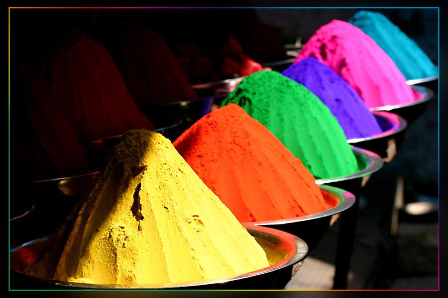 Indische Farben
