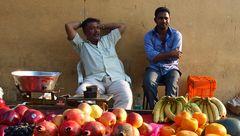 Indische Obstverkäufer