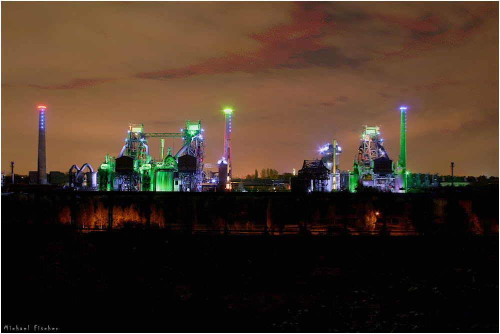 industrial estate by night HDR