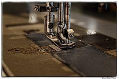 Industrie Nähmaschine im Detail