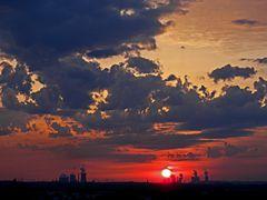 Industrie-Sonnenuntergang