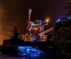 Industriedenkmal bei Nacht