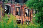 Industriegebäude mit grün