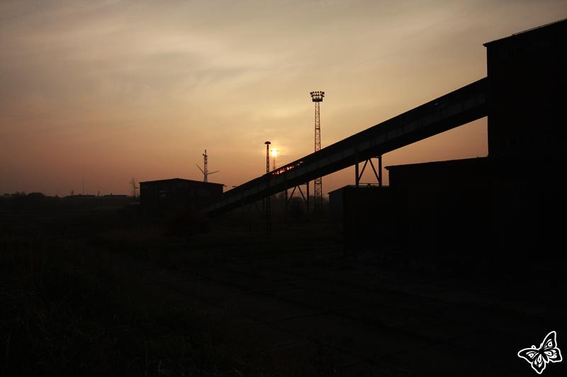 Industrieller Sonnenuntergang
