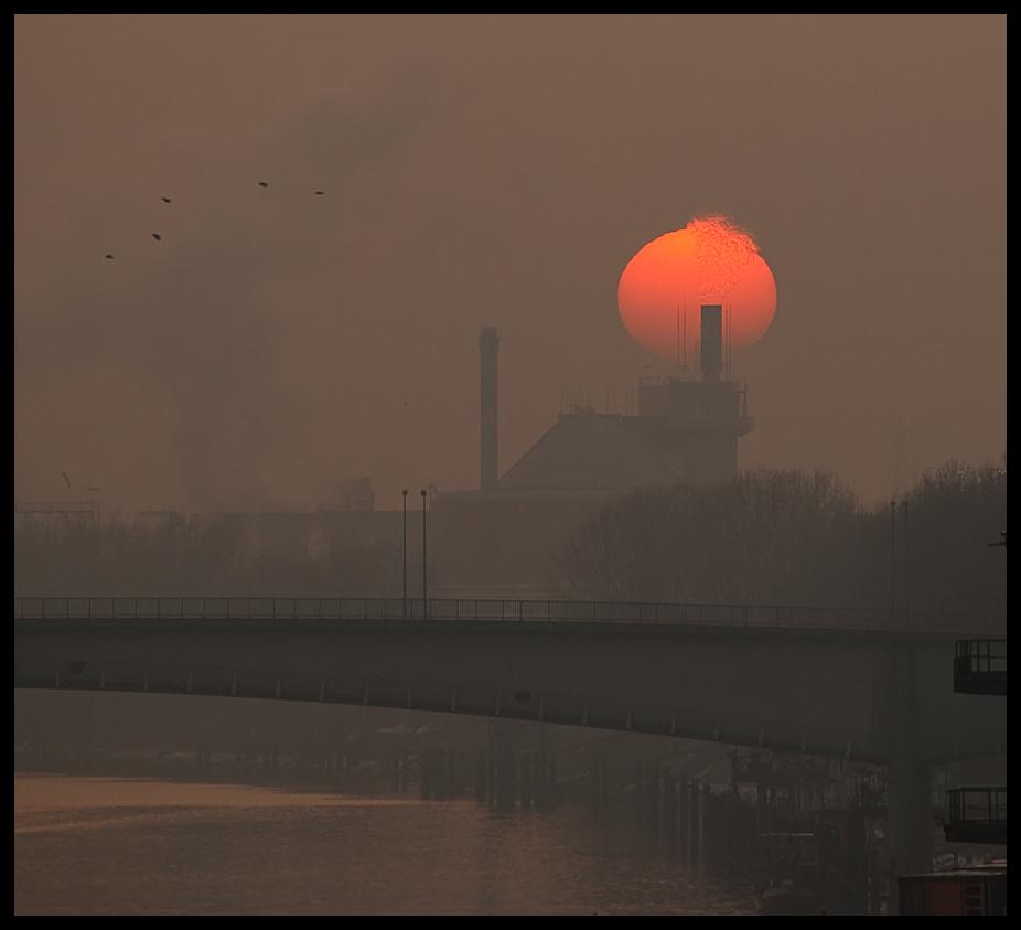 Industriepark Höchst in winterlicher Abendsonne (2)
