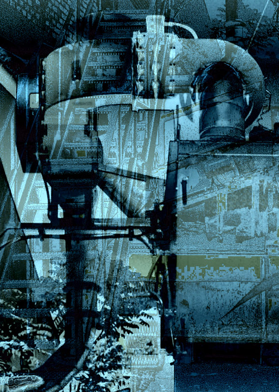 Industry in Blue (a la Picasso)