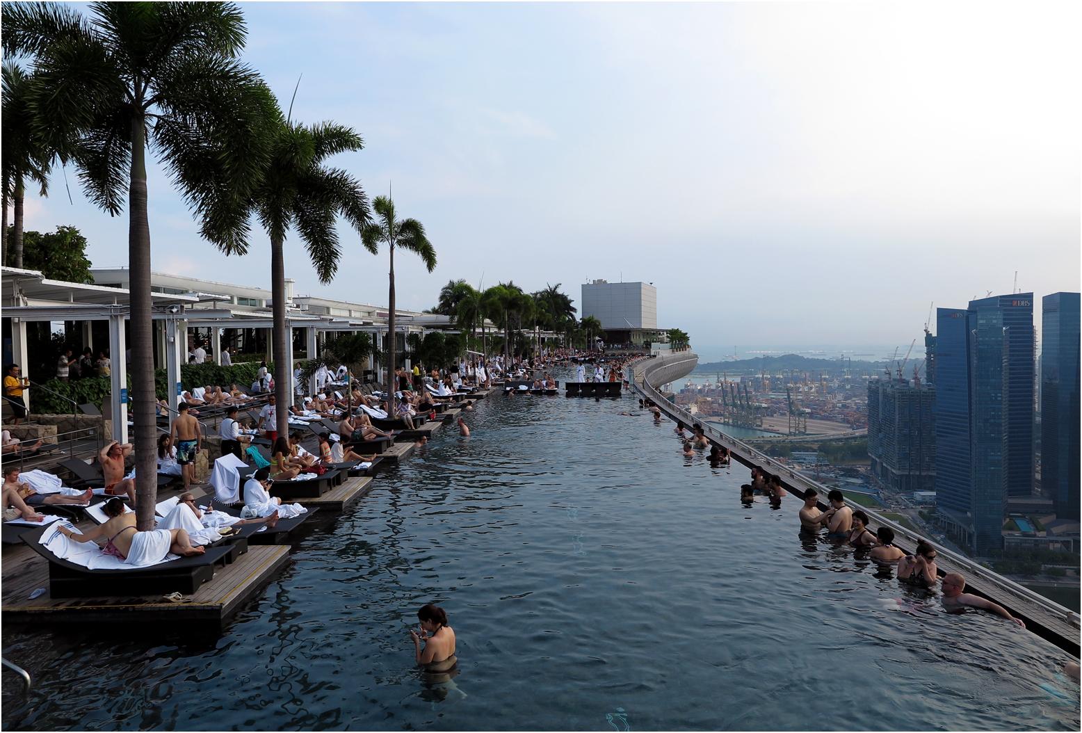 infinity pool marina bay sands singapur foto bild asia singapore southeast asia bilder. Black Bedroom Furniture Sets. Home Design Ideas