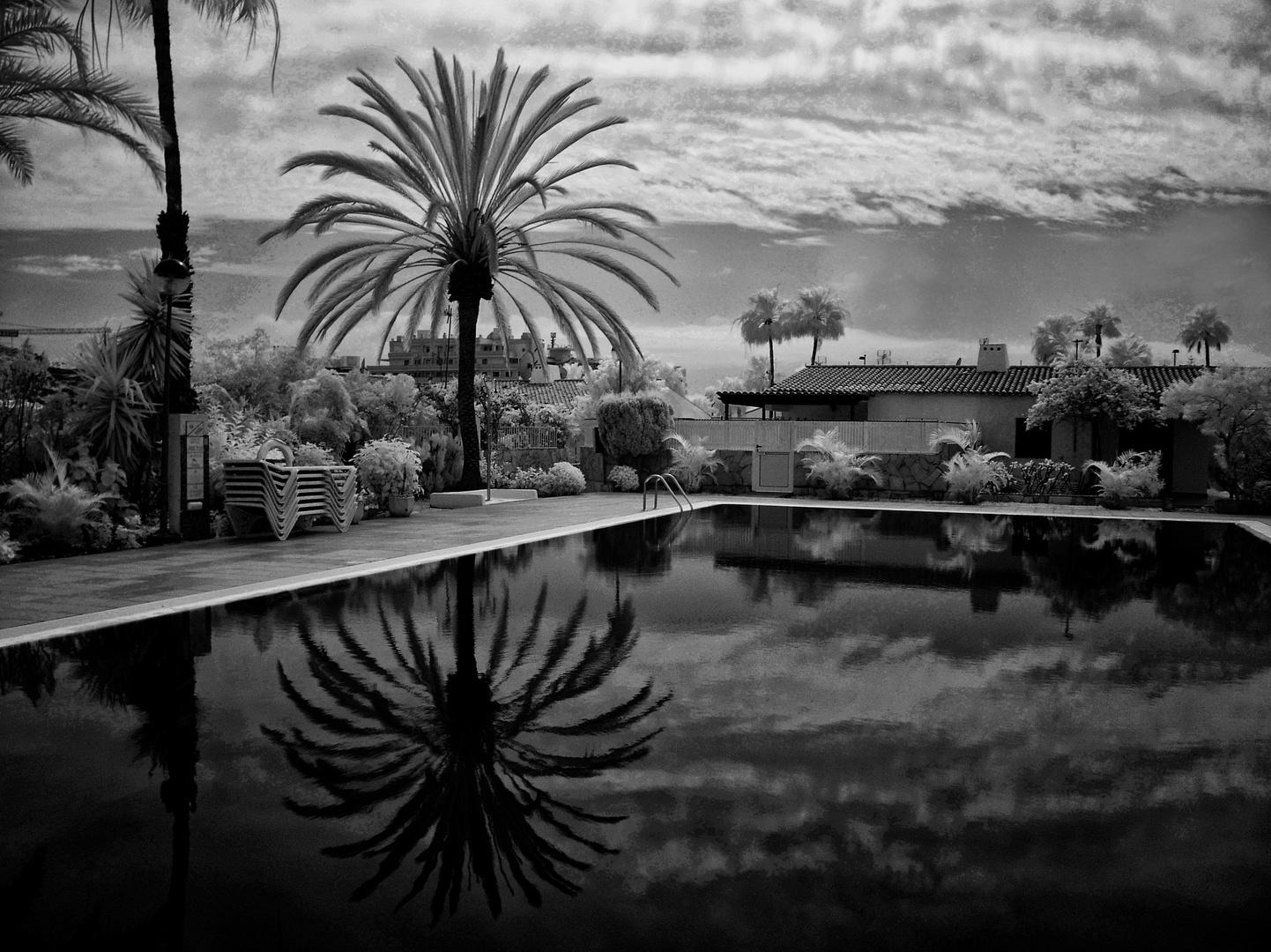 Infrarot am Pool