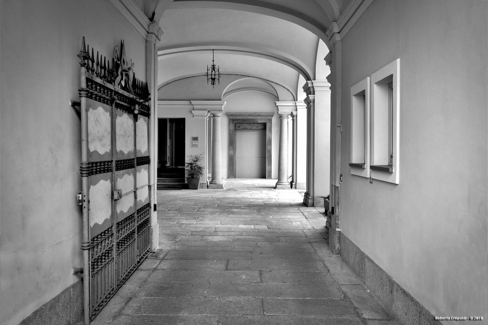 Ingresso della Curia Vescovile di Vigevano
