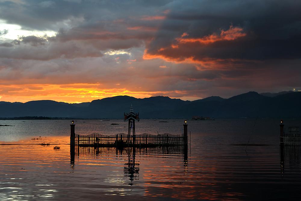 Inle See kurz vor dem Sonnenuntergang
