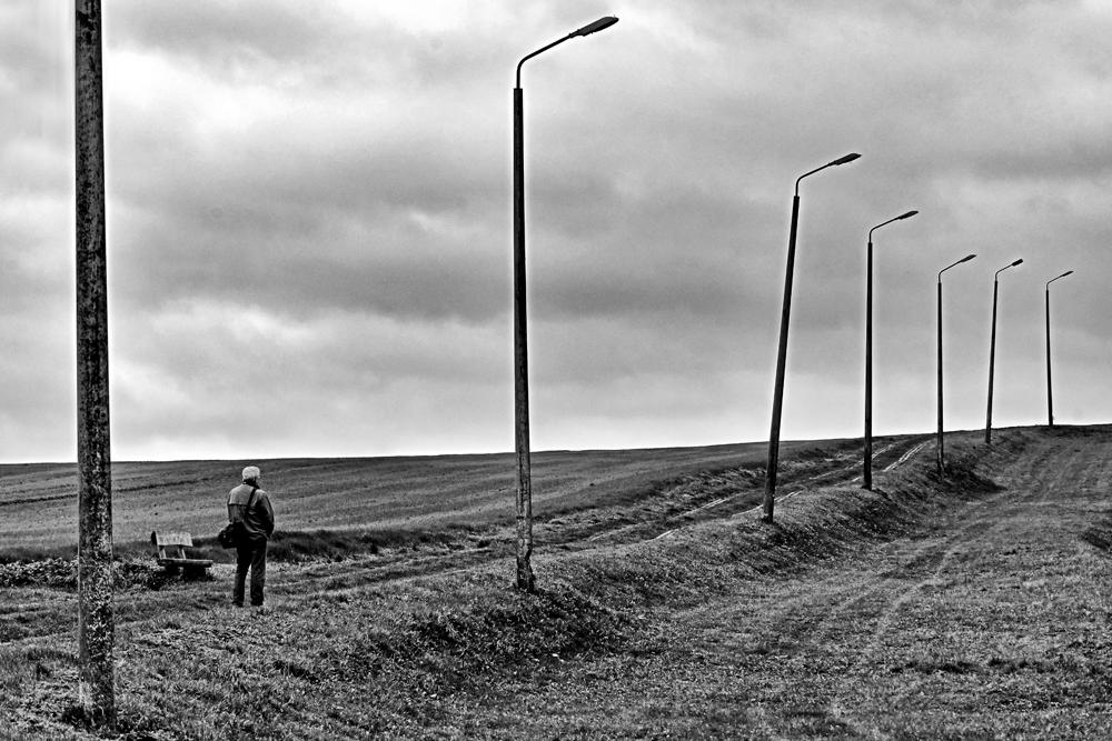 Innehalten am ehemaligen Grenzstreifen