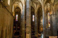Innenansicht der Klosterkirche Sta. Maria vom Mosteiro dos Jeronimos