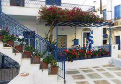 Innenhof auf Tinos