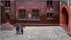 Innenhof des Basler Rathauses
