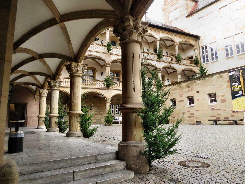 Innenhof in alten Schloß