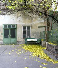 Innenhof in der Wiener Andreas Gasse