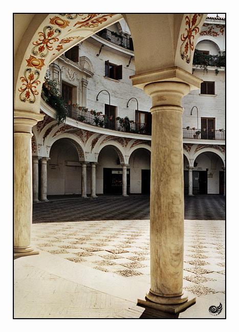 Innenhof in Faro/Portugal